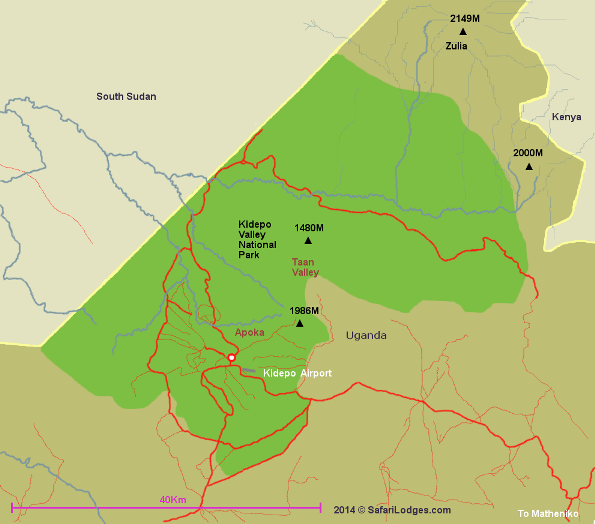 Image result for kidepo national park map